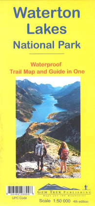 Buy map Waterton Lakes National Park, Alberta and British Columbia Trail Map and Guide (waterproof) by Gem Trek