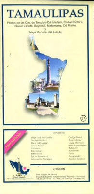 Buy map Tamaulipas, Mexico, State and Major Cities Map by Ediciones Independencia