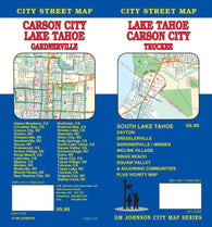 Buy map Lake Tahoe, California with Carson City, Minden and Garnerville by GM Johnson