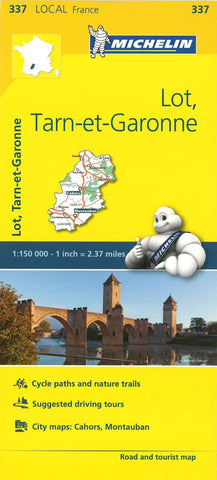 Buy map Michelin: Lot, Tarn Et Garonne, France Road and Tourist Map by Michelin Travel Partner