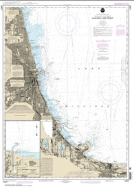 Buy map Chicago Lake Front; Gary Harbor (14927-25) by NOAA
