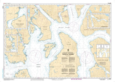 Buy map Approaches to/Approches a Douglas Channel by Canadian Hydrographic Service