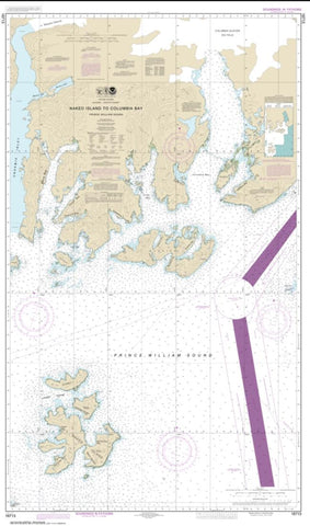 Buy map Naked Island to Columbia Bay (16713-4) by NOAA