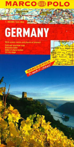 Buy map Germany by Marco Polo Travel Publishing Ltd