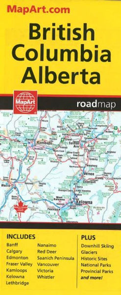 Buy map British Columbia and Alberta, Road Map by Canadian Cartographics Corporation, MapArt