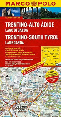 Buy map Trentino-South Tyrol and Lake Garda, Italy by Marco Polo Travel Publishing Ltd