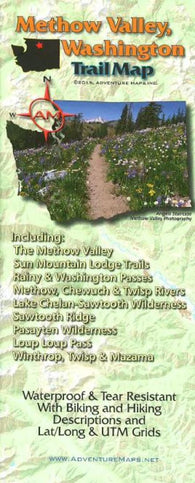 Buy map Methow Valley, WA, Trail Map by Adventure Maps