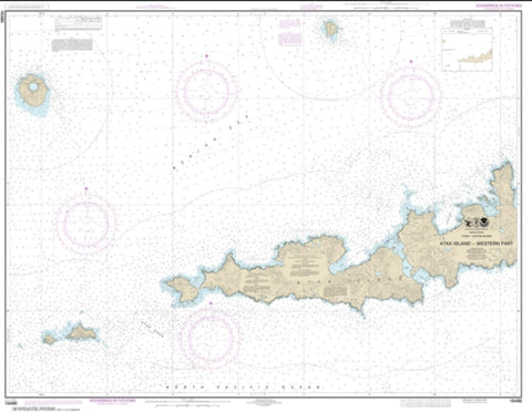 Buy map Atka Island, western part (16486-8) by NOAA