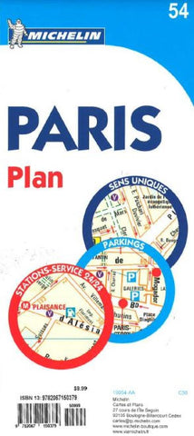 Buy map Paris, France (54) by Michelin Maps and Guides