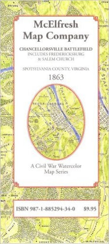 Buy map Chancellorsville Battlefield by McElfresh Map Co.