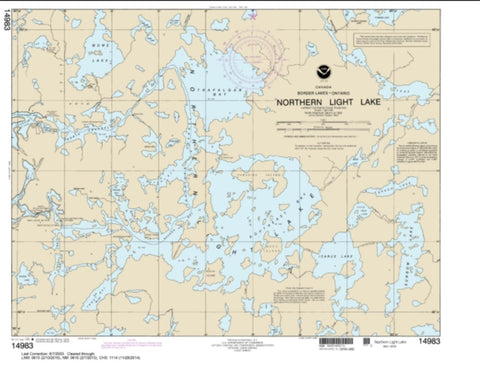 Buy map Northern Light Lake (14983-9) by NOAA