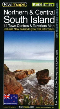 Buy map South Island, Northern and Central, New Zealand, Pathfinder Map by Kiwi Maps