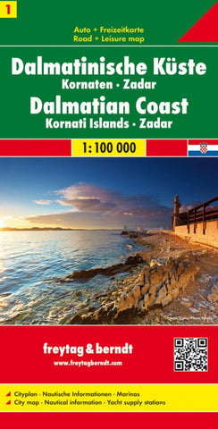Buy map Croatia, Dalmatian Coast, Kornati Islands and Zadar by Freytag-Berndt und Artaria
