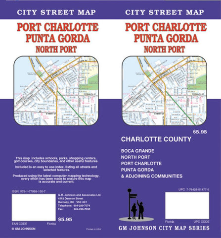 Buy map Port Charlotte, Punta Gorda and North Port, Florida by GM Johnson