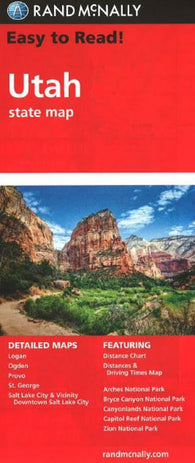 Buy map Utah by Rand McNally