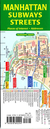 Buy map Manhattan Subways and Streets by Tauranac Press