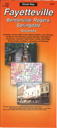 Buy map Fayetteville, Bentonville, Rogers and Springdale, Arkansas by The Seeger Map Company Inc.