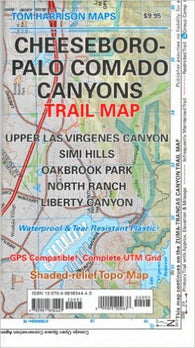 Buy map Cheeseboro and Palo Comado Canyons, California by Tom Harrison Maps