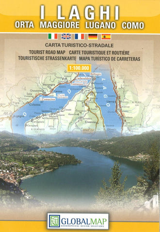 Buy map The Italian Lakes by Litografia Artistica Cartografica