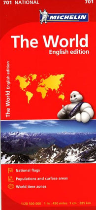 Buy map World, Political with Flags (701) by Michelin Maps and Guides