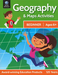 Buy map Geography and Maps Activities (Beginner: Ages 6+) by Rand McNally