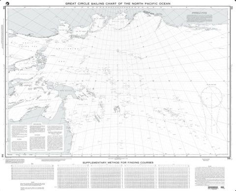 Buy map Great Circle Sailing Chart Of The North Pacific Ocean (NGA-56-38) by National Geospatial-Intelligence Agency