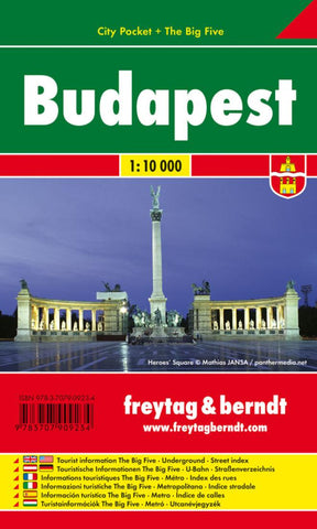 Buy map Budapest, Hungary - City Pocket Map by Freytag-Berndt und Artaria