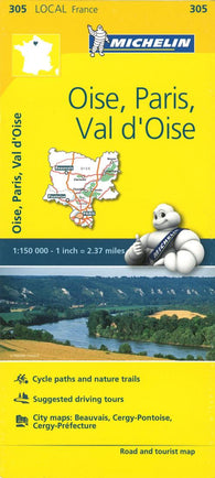 Buy map Michelin: Oise, Paris, Val dOise, France Road and Tourist Map by Michelin Travel Partner