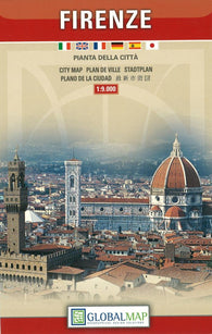 Buy map Florence, Italy, Tourist City Center by Litografia Artistica Cartografica