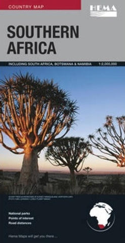 Buy map Africa, Southern: South Africa, Botswana, Namibia by Hema Maps