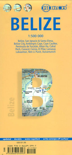 Buy map Belize by Borch GmbH.