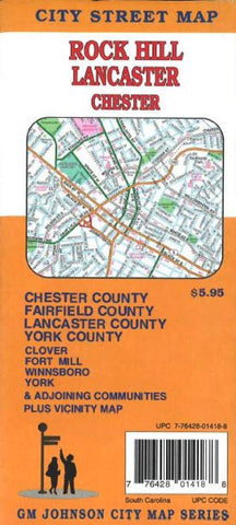 Buy map Rock Hill, Lancaster and Chester, South Carolina by GM Johnson