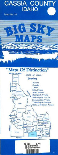 Buy map Cassia County, Idaho by Big Sky Maps