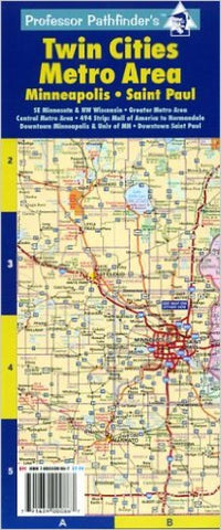 Buy map Twin Cities, Minnesota, Metro Area, laminated by Hedberg Maps
