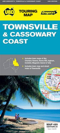 Buy map Townsville and Cassowary Coast, Australia by Universal Publishers Pty Ltd