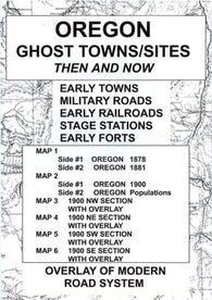 Buy map Oregon, Ghost Towns, 6 Map Set, Then and Now by Northwest Distributors