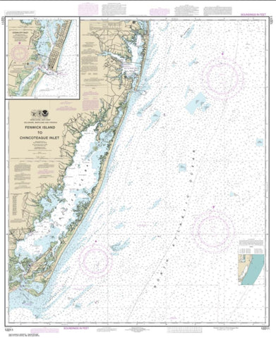 Buy map Fenwick Island to Chincoteague Inlet; Ocean City Inlet (12211-45) by NOAA