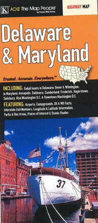Buy map Delaware and Maryland by Kappa Map Group