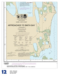Buy map Approaches to Smith  Bay (16067-8) by NOAA