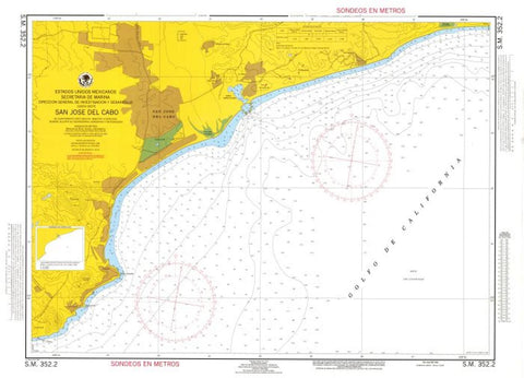 Buy map San Jose del Cabo by Secretaria de Marina