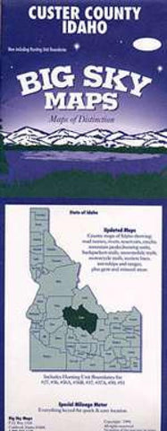 Buy map Custer County, Idaho by Big Sky Maps