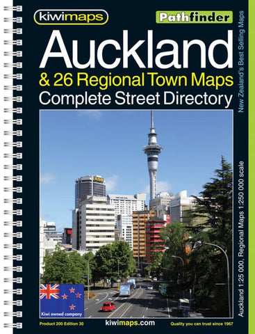 Buy map Auckland + 26 Towns, New Zealand Atlas by Kiwi Maps