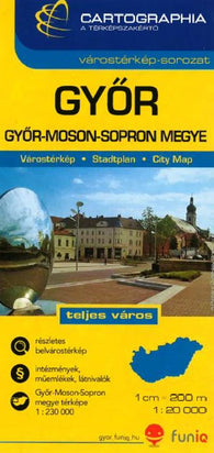 Buy map Gyor, Hungary by Cartographia