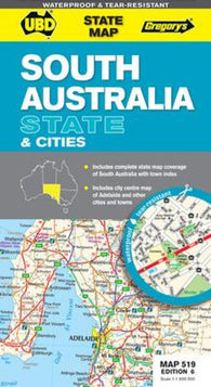 Buy map South Australia State and Suburban by Universal Publishers Pty Ltd