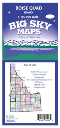 Buy map Boise, Idaho, Quad by Big Sky Maps