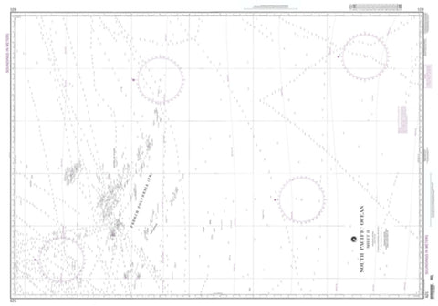 Buy map South Pacific Ocean Sheet Ii (NGA-621-5) by National Geospatial-Intelligence Agency