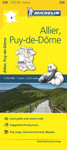 Buy map Michelin: Allier, Puy-de-Dome Road and Tourist Map by Michelin Travel Partner