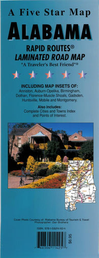 Buy map Alabama Rapid Routes by Five Star Maps, Inc.