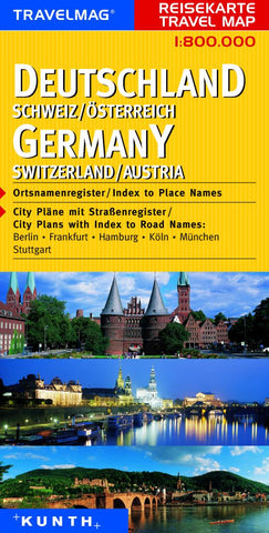 Buy map Germany, Switzerland and Austria by Kunth Verlag
