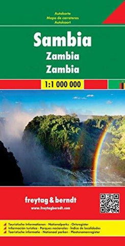 Buy map Zambia by Freytag-Berndt und Artaria